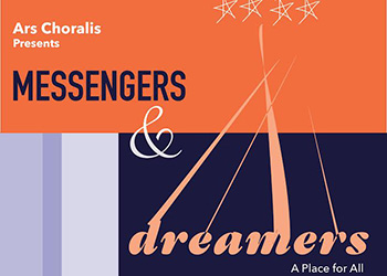 Ars Choralis artwork for Messengers and Dreamers concert